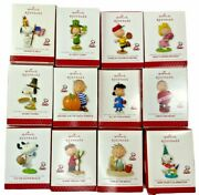 2013 Hallmark Ornaments 12 Months Of Fun Happiness Is Peanuts All Year Long