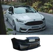 For Ford Mondeo Fusion 2013-16 M Primer Black Front Bumper Bottom Protector 1pcs