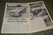 ★★1981 Oldsmobile Cutlass Supreme Brougham First Look Road Test Article 81