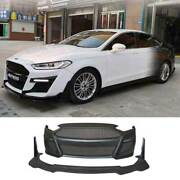 For Ford Mondeo Fusion 2013-2016 Primer Black Front Bumper Bottom Protector 2pcs