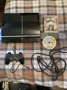 Ps1 Ps2 Compatible Ps3 System Cbeh1000 With Controller, Pwr Cord, Persona 5 Gta5