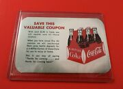 Coca-cola Six Pack Coupon Card Card With Each 2 Spent. 5 Coupons Free 6 Pack
