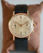 Zenith Cal.146d 18k Solid Rose Gold Chronograph 36mm Rare Gold Dial