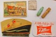 Collection Advertising Sewing Needle Books Tube Cases Bullet Style With Thimble