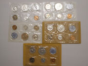 5 Proof Sets - 1960, 1961, 1962, 1963, 1964 Us Mint 5 Coin Sets 90 Silver