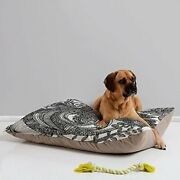 Deny Designs Valentina Ramos Bird In Flowers Black White Pet Bed 40 By 30-inch