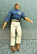 Mattel Big Jim P.a.c.k. Wolfpack With Belt Bow Used Arm Works 1971 Commander