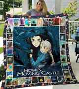 Howls Moving Castle Tv Series Cart00n Blanket Funny Birthday Gift For Wife Dad