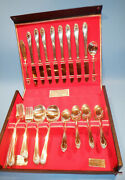 Wm. A. Rogers 49 Pcs Vintage Extra Heavy Silver Plated Service Set For 8 W/ Case