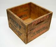 Peters 3847 Rustless 38 Special Police Match Wood Ammunition Ammo Box Crate Vtg
