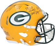 Charles Woodson Gb Packers Signed Authentic Helmet With Multiple Inscs - Le 21