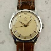 Vintage C.1947 Omega Automatic Bumper Ref. 2582-3 Cal. Andomega 351 Watch In Steel