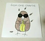 Charlie Watts-from One Charlie-ufo Records-dual Signed Book And Cd-charlie Parker