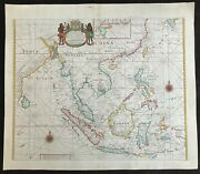 Samuel Thornton 1711 Chart Of China Japan And East Indies From The English Pilot