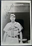 Bill Delancey Autographed 3.5x5 Photo 1934 Cardinals Gas House Gang Very Rare