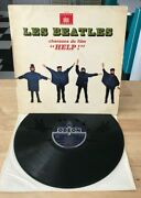Rare French Lp The Beatles Help Odeon Osx 230 Rare Display Sleeve Blue Label