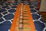 Antique Vintage Aesthetic 5 Sets Of Cast Brass Door Knobs And Face Plates 0003