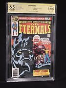 🔥the Eternals 1 Cbcs 6.5 Signed By Legend Jack Kirby 🔥 Verified Signature Wow