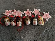 Never Used 6 Piece Set K-on Anime Movie Tea Cup Phone Strap/keychains