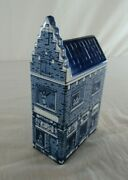 Vintage Delft Blue House Red Light Always 9 Holland Hand Painted Nude Version
