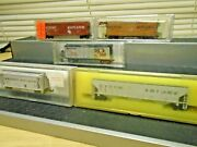 5 Atlas+micro+wild Mary N Scale Western Maryland 2 Hoppers+3 Boxcars+obs Vg+deal