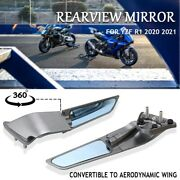 Fit For Yamaha Yzf R1 Motorcycle Side Rearview Rear-view Mirror 360anddeg Spin 2020 -
