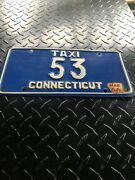Vintage Connecticut Taxi License Plate Number 53 Very Rare