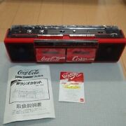 Very Rare Coca-cola W Radio Cassette Boombox 1989 Giveaway Items New Japan F/s