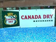 Vintage Canada Dry Porcelain Advertising Sign 30x10 - Nice