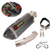 Modified Exhaust Tips 370mm Mid Pipe Slip For Duke 390 Rc390 125 250 2017-2020