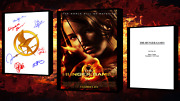 The Hunger Games Script/screenplay Movie Poster Autograph Signed Print