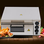 2000w Electric Pizza Oven Commercial Pizza Cooker Single Deck Fire Stoneus Stock