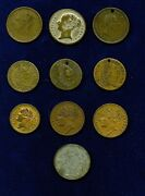 Great Britain / England Old Tokens / Medals 1791-1837 Group Lot Of 10