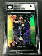 Trae Young 2018 Select 45 Concourse Neon Green Prizm Rc /75 Bgs 9.5 9 9.5 9 Subs