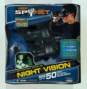 Spy Net Recording Goggles Night Vision Video Photos Complete Darkness Up To 50ft