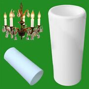 100x White Chandelier Plain Candle Sleeve Light Bulb Tube Covers 85mm X 23mm