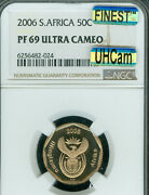2008 South Africa 50 Cents Ngc Pf70 Mac Uhcam Solo Finest Grade Mac Spotless
