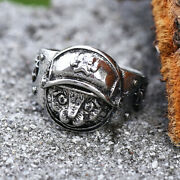 Cute Cat Paw Silver Menand039s Cat Sheriff Ring Punk Gothic Jewelry Gift Size 7-13