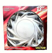 Custom Accessories Clear Coat Finish Vector 13 Wheel Covers 4 Pack 82700