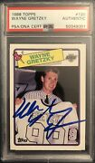 1988 Topps 120 Wayne Gretzky Signed Autograph Psa Dna La Kings The Great One