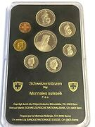 1986 Switzerland Mint Set Swiss National Bank 8-coin Unc Official Issue