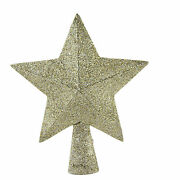 Tree Topper Finial Peaceful Star Tree Topper Glittered Paper Christmas Lc0656