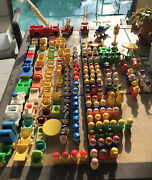 Large Multiple Pieces Vintage Fisher Price Toys And Access Lot Little People Etc