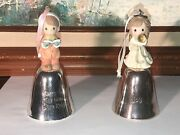 """Vintage Precious Moments 2 Bells Enesco """"glory To The New Born King""""and Joy 2000"""