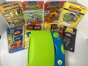 Leap Pad Learning System Books Cartridges Zipper Storage Tested Works