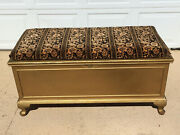Vintage Decorated Pine Hope Chest Solid Wood Trunk Local Pick Up