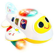 Musical Airplane Educational Toys For 6 Months 1 2 3 Year Old Kids Toy Boy Girl