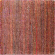 8and039 Square Super Savannah Gabbeh Hand-knotted Wool And Silk Rug - Q11911