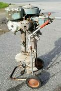 Wwii Johnson Military Outboard Motor Polr 15 Long Shaft 22 Hp Twin Cylinder