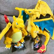 Pokemon Center Limited Plush Doll Stuffed Toy Charizard Mega Charizard Y From
